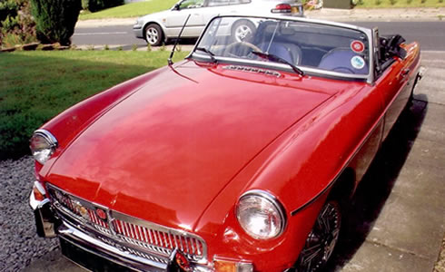 Red MG Restored by Heatons Garage