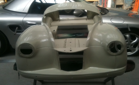 Funky little car body work completed by Heatons